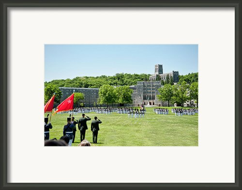 Corps Of Cadets Present Arms Framed Print By Dan Mcmanus