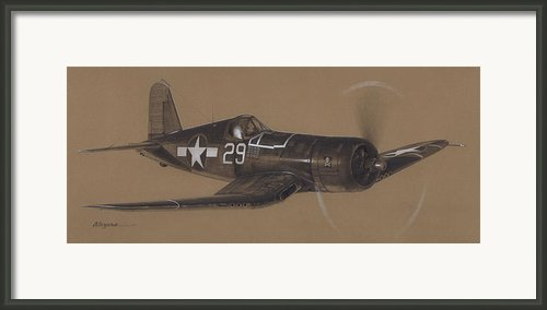 Corsair Triple Ace Framed Print By Wade Meyers