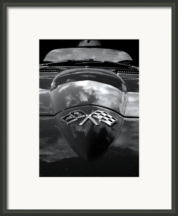 Corvette In Black And White Framed Print By Bill Gallagher
