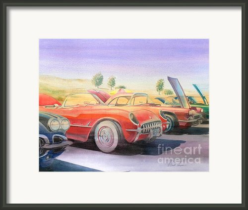 Corvette Show Framed Print By Robert Hooper