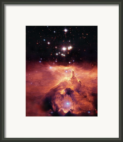 Cosmic Cave Framed Print By The  Vault