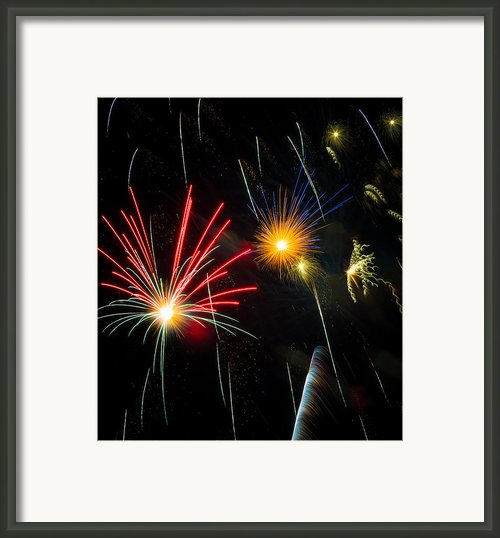 Cosmos Fireworks Framed Print By Inge Johnsson
