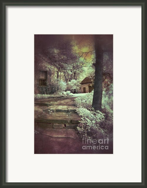 Cottages In The Woods Framed Print By Jill Battaglia