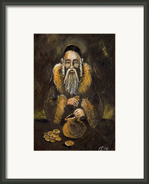 Counting The Gold Coins Framed Print By Angel  Tarantella