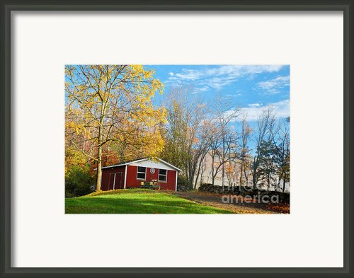 Country Barn Framed Print By Crystal Wightman