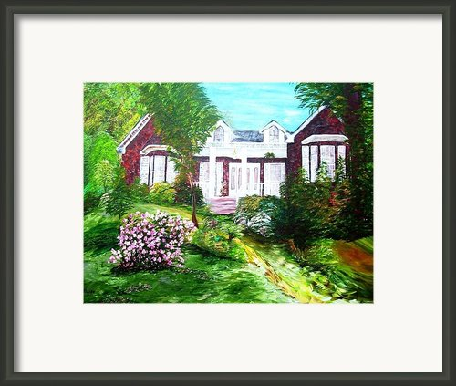 Country Estate Framed Print By Eloise Schneider