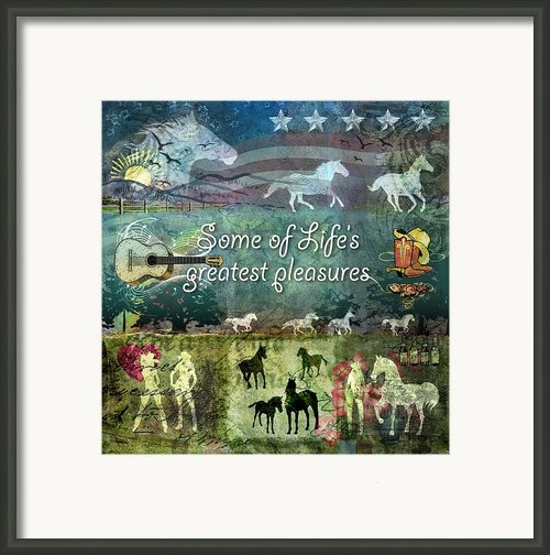Country Pleasures Framed Print By Evie Cook