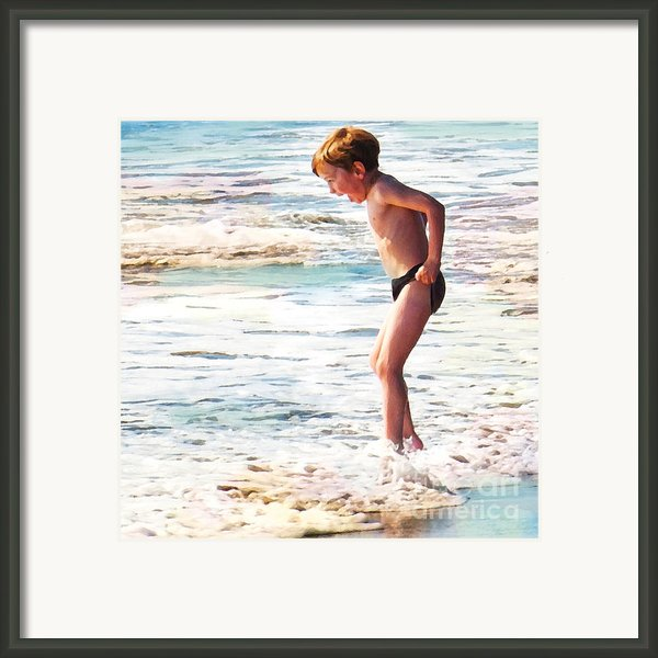 Courage Framed Print By Artist And Photographer Laura Wrede