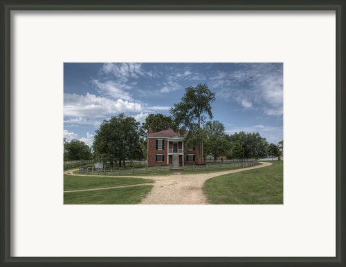 Courthouse At Appomattox Court House Framed Print By Stephen Gray