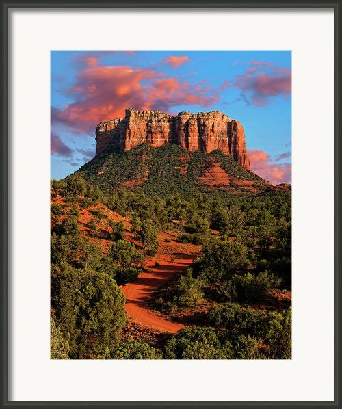 Courthouse Rock Vortex Framed Print By Jeffrey Campbell