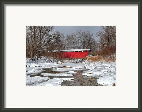 Covered Bridge Everett Rd. Framed Print By Daniel Behm