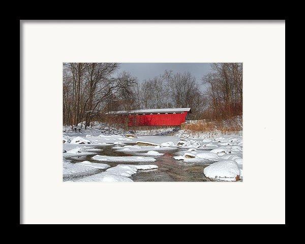 Covered Bridge Everett Rd. Framed Print By Daniel Behm