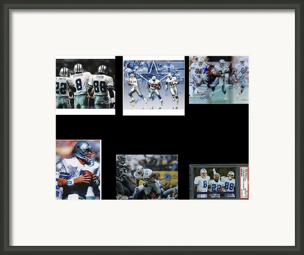 Cowboys Triple Threat  Autographed Reprint Framed Print By James Nance