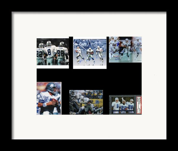 Cowboys Triple Threat  Autographed Reprint Framed Print By James Nance