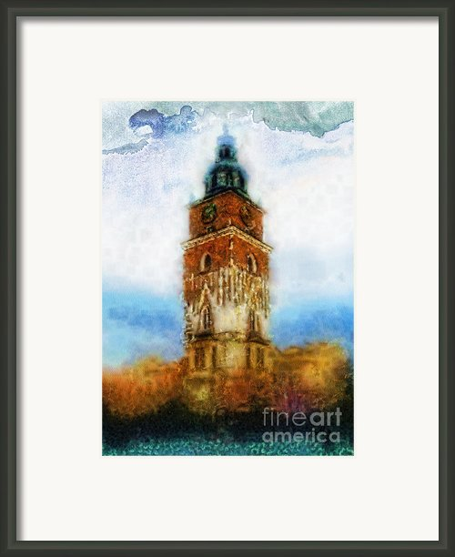 Cracov City Hall Framed Print By Mo T