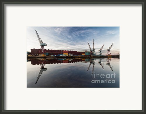 Cranes On The Clyde  Framed Print By John Farnan