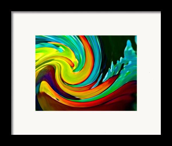Crashing Wave Framed Print By Amy Vangsgard