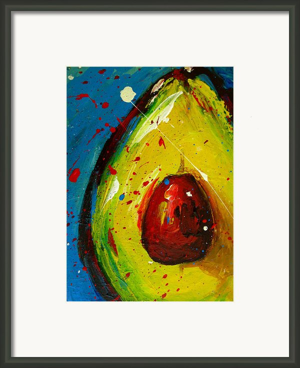 Crazy Avocado 4 Framed Print By Patricia Awapara