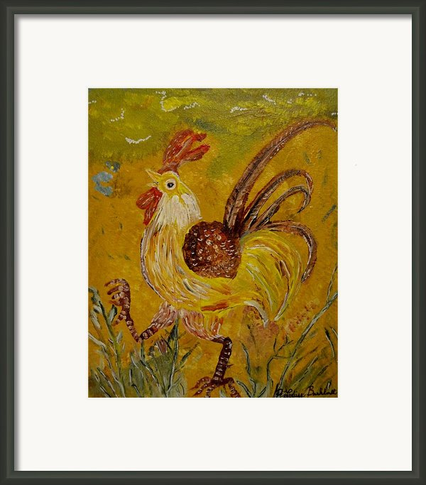 Crazy Chicken Framed Print By Louise Burkhardt