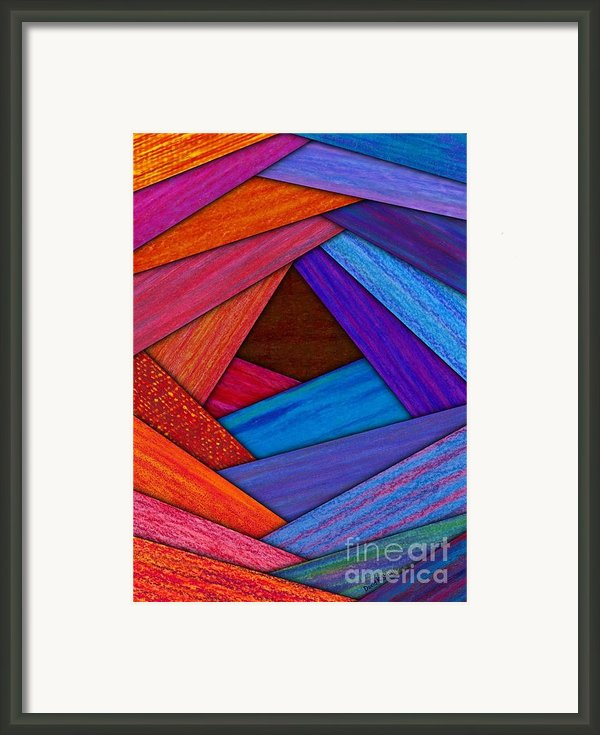 Crazy Log Cabin Card Framed Print By David K Small