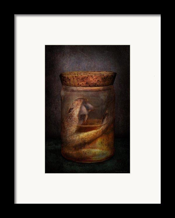 Creepy - Tonight We Eat Snake  Framed Print By Mike Savad