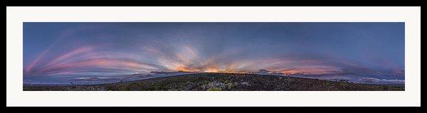 Crepuscular Burst  Framed Print By Sean King
