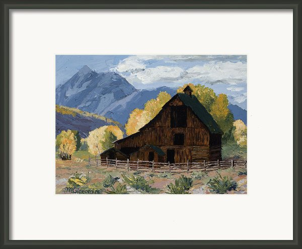 Crested Butte Country Framed Print By Mary Giacomini