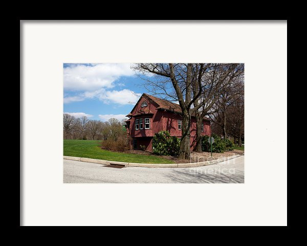 Cricket Building At Haverford College Framed Print By Kay Pickens