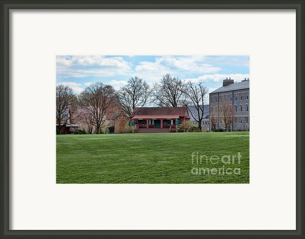 Cricket Field Haverford College Framed Print By Kay Pickens