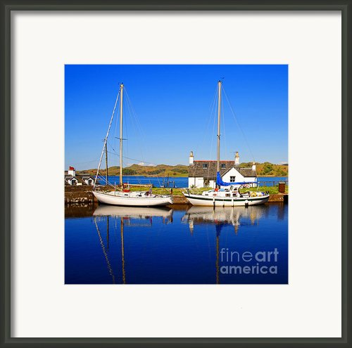 Crinan Canal Framed Print By Craig Brown