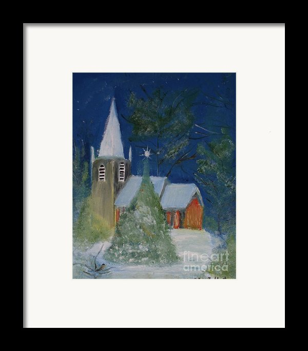 Crisp Holiday Night Framed Print By Louise Burkhardt