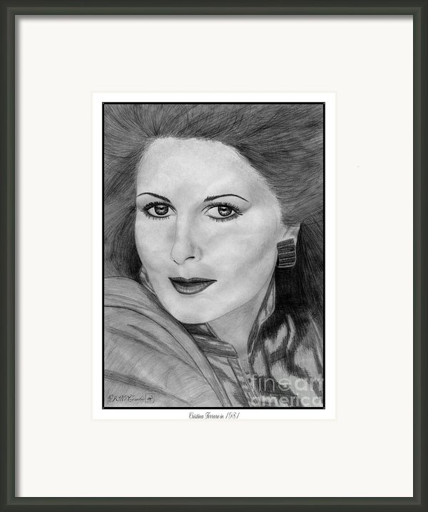 Cristina Ferrare In 1981 Framed Print By J Mccombie