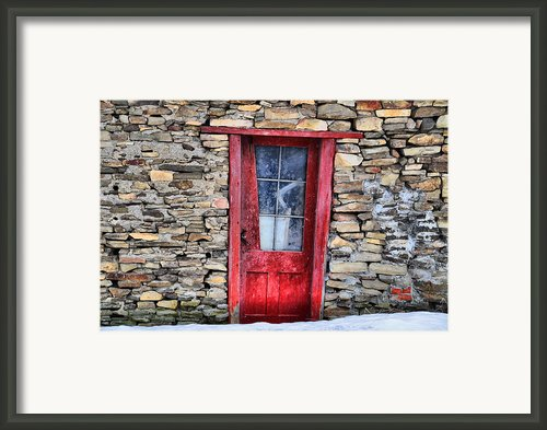 Crooked Red Framed Print By Emily Stauring
