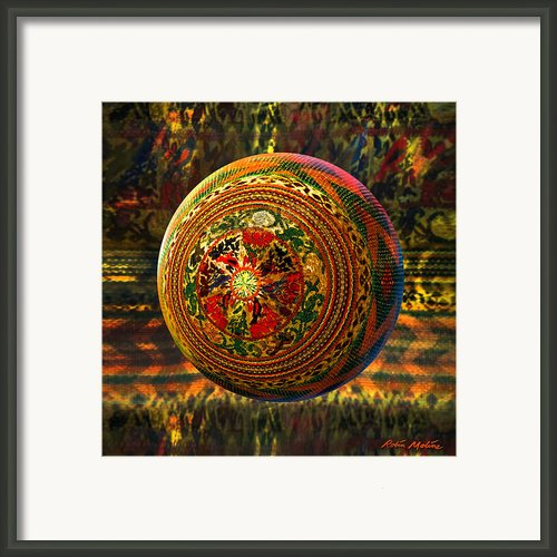 Croquet Crochet Ball Framed Print By Robin Moline