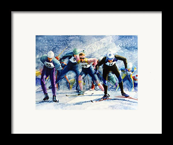 Cross-country Challenge Framed Print By Hanne Lore Koehler