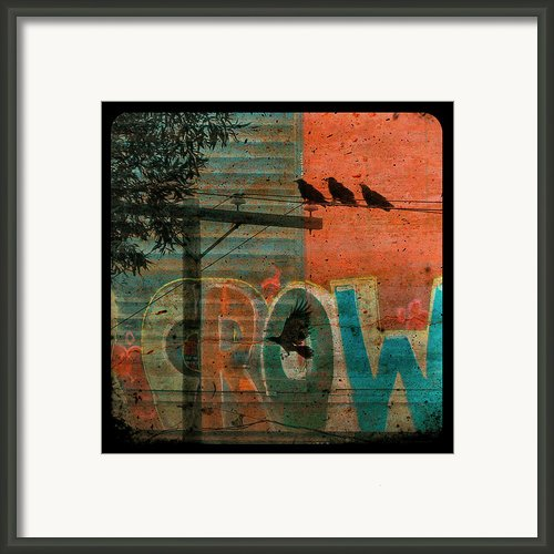 Crow Graffiti  Framed Print By Gothicolors And Crows