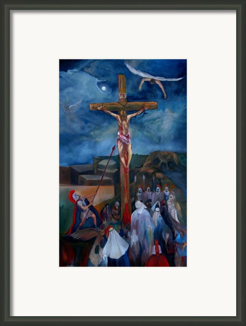 Crucifixion Framed Print By Chris  Easley