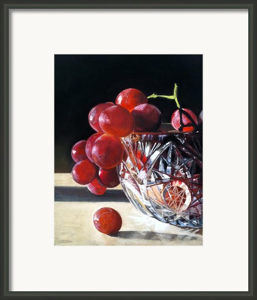 Crystal Grapes Framed Print By Cristine Kossow