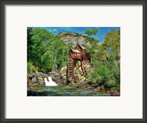 Crystal Mill Crystal Colorado Framed Print By Ken Smith
