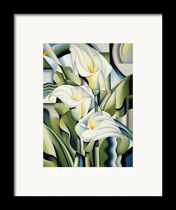 Cubist Lilies Framed Print By Catherine Abel