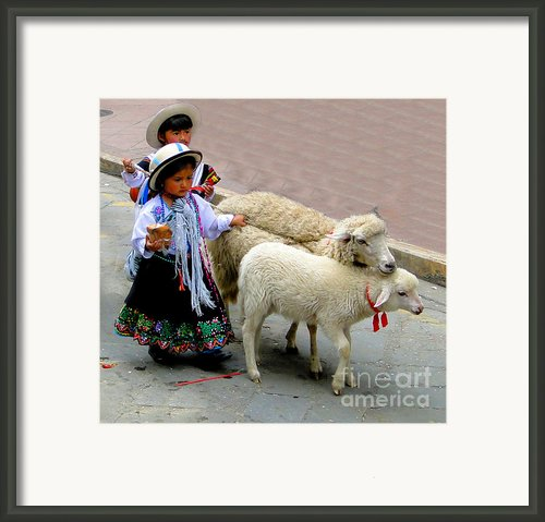 Cuenca Kids 233 Framed Print By Al Bourassa