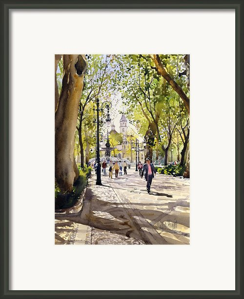 Cuesta Genil Framed Print By Margaret Merry