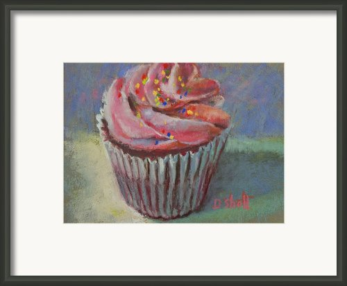 Cup Of Cake Framed Print By Donna Shortt