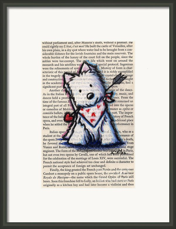 Cupid Westie Framed Print By Kim Niles