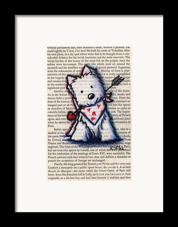 Cupid Westie Framed Print By Kim Niles