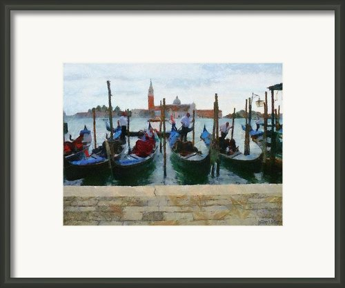 Curbside Parking Framed Print By Jeff Kolker