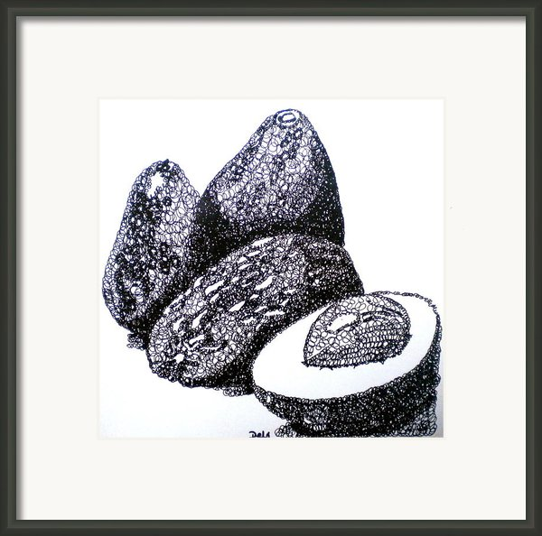 Curly Avocados Framed Print By Debi Pople