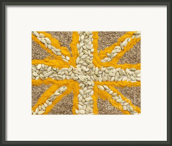 Curried Flag Framed Print By Anne Gilbert