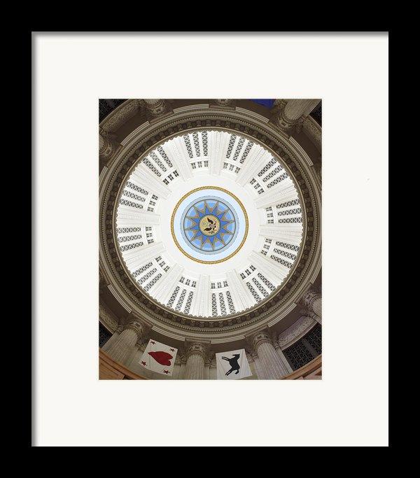 Custom House Tower Ceiling Boston Framed Print By Norman Pogson