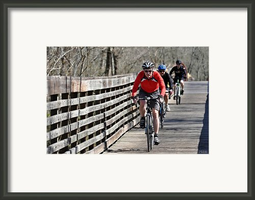 Cyclists Framed Print By Teresa Blanton